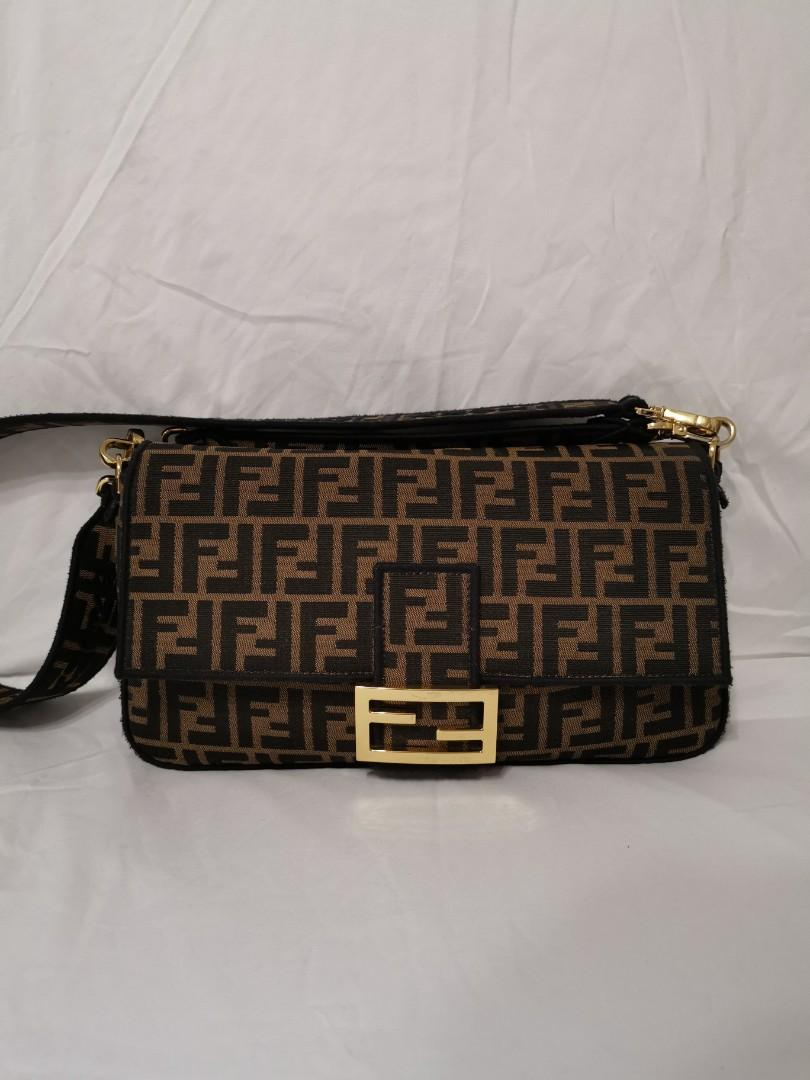 Fendi Baguette Jacquard FF Large Brown/Black