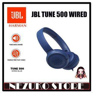 JBL TUNE500 / T500 / Tune 500 Wired on-ear headphones Blue