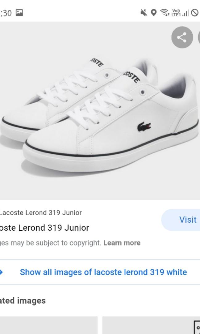 lacoste lerond junior white