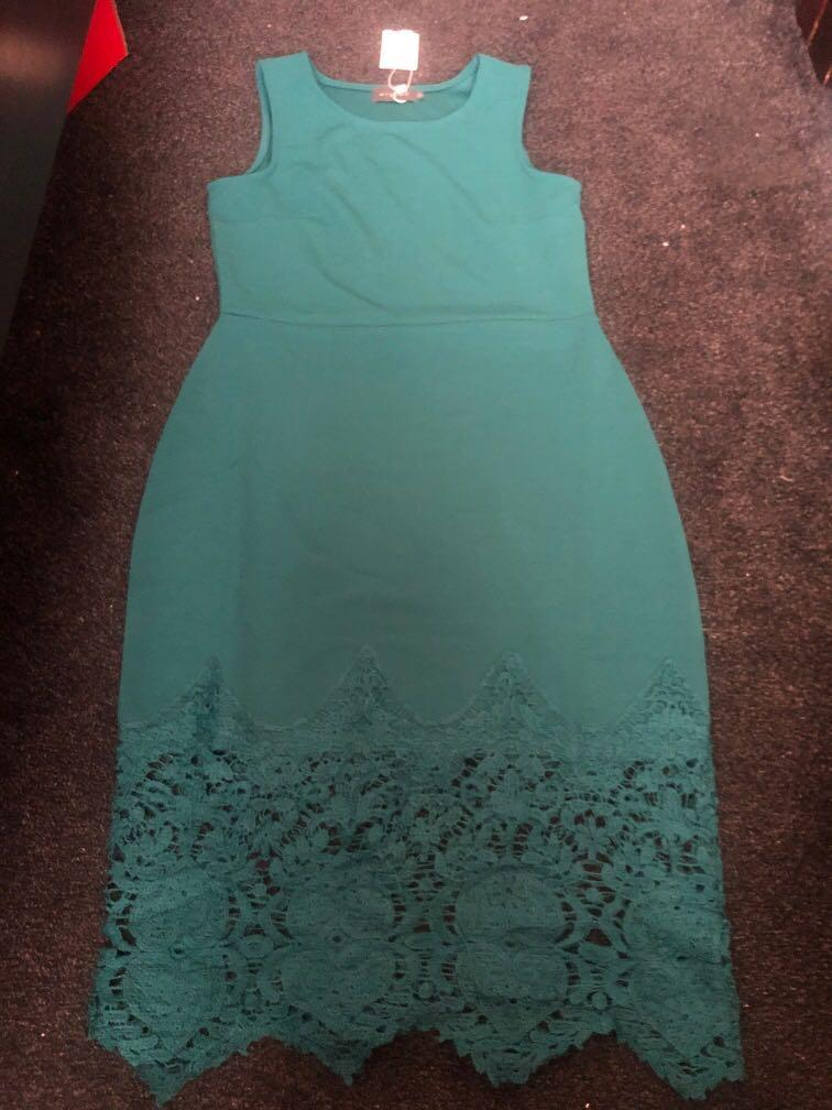 Mirrou dress green - free-post