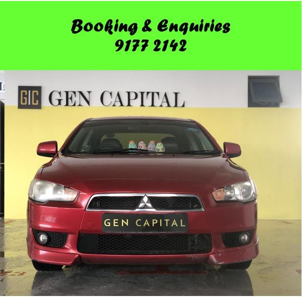 Mitsubishi Lancer EX. Cheap   Budget   Car Rental . 1month promotion rate. $500 deposit only. Whatsapp 9177 2142 to reserve now.