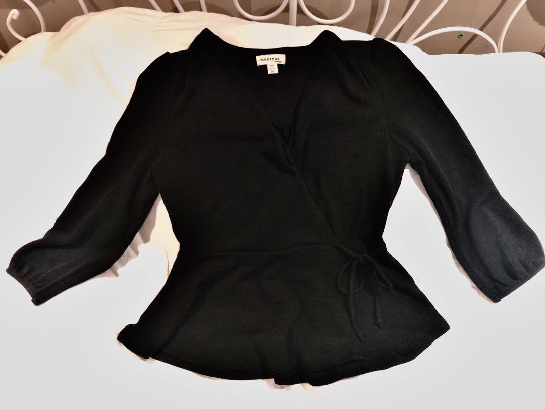 Monteau Black Date Night Shirt