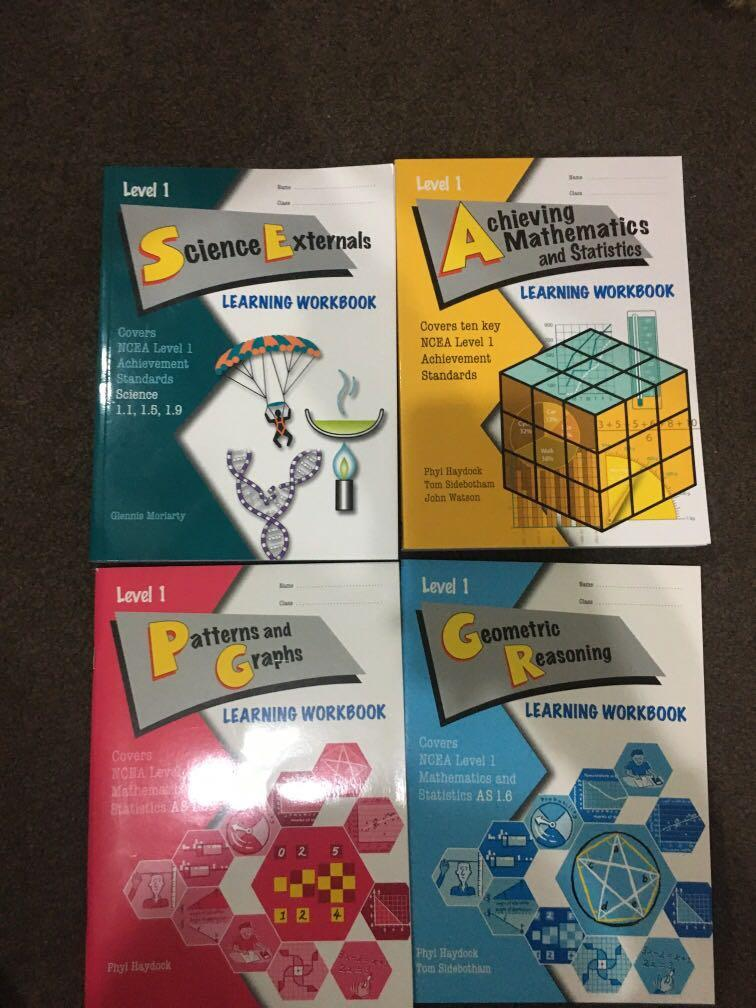 NCEA Level 1 Science and Maths learning workbooks
