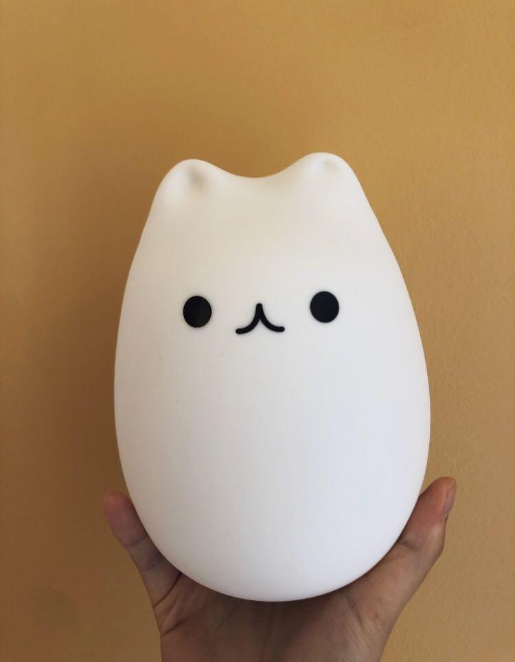 Smart touch led color changing cat lamp