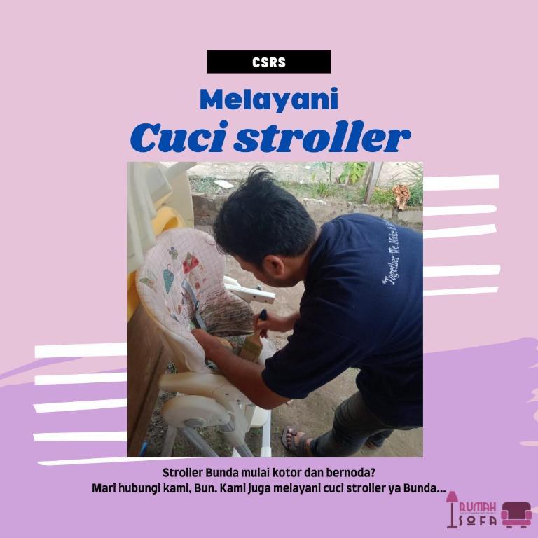 Stroller (cuci stroller murah Jogja, noda bisa hilang)