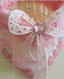 手作藤編粉紅蕾絲筆筒