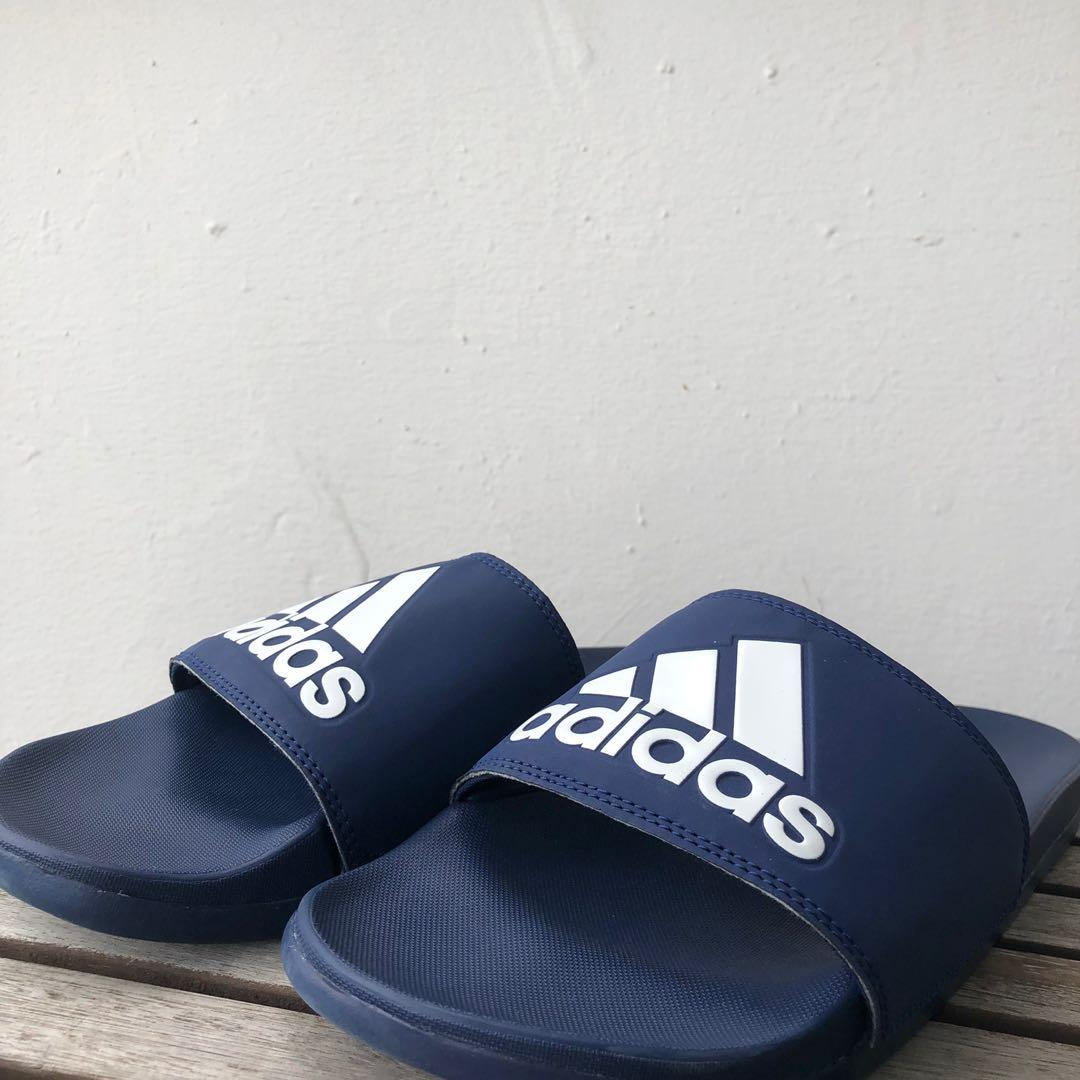 Adidas Adilette Comfort Slides in Dark