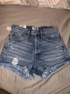 Aritzia Agolde Parker Denim shorts