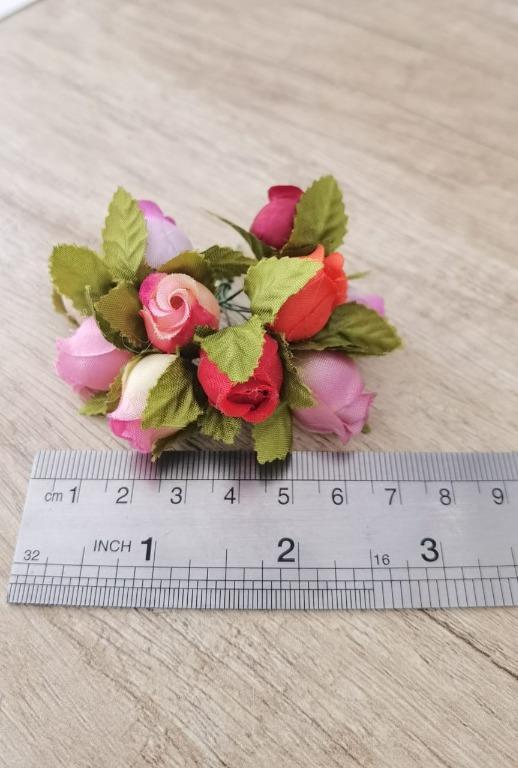 Bunga Artificial Kerajinan Tangan Design Mawar Rose  Ros D3 Mix
