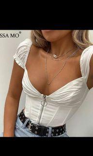 crop corset blouse