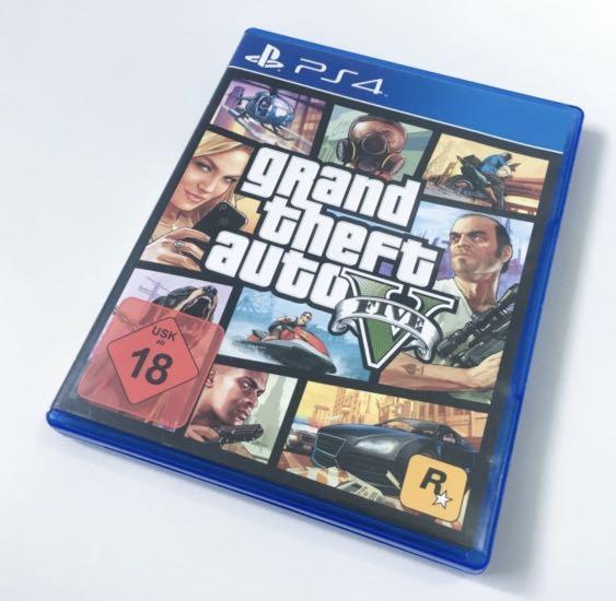 GTA V PS4 Kaset Grand Theft Auto V Original Like New GTA 5
