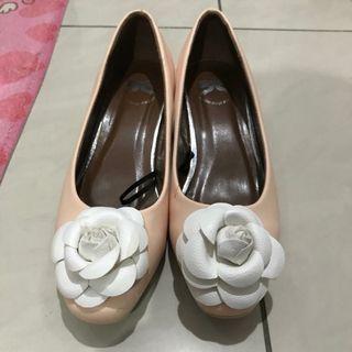 Heels Peach bunga