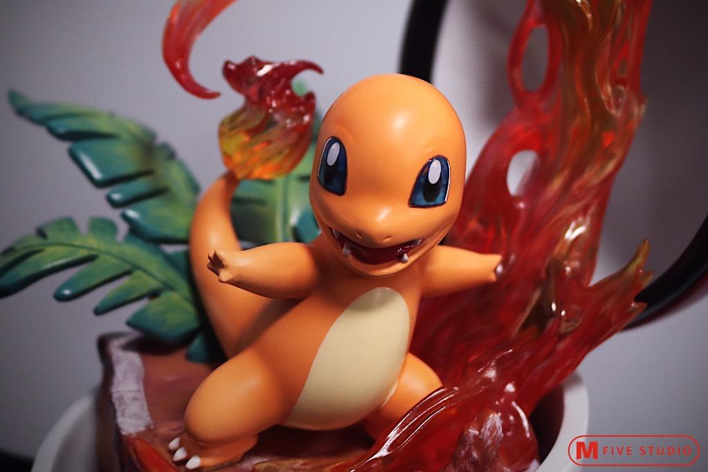[IN-STOCK]POKEMON: POKEBALL CHARMANDER STATUE FIGURE