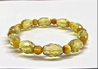 lemon quartz + tiger eye 柠檬晶+虎眼