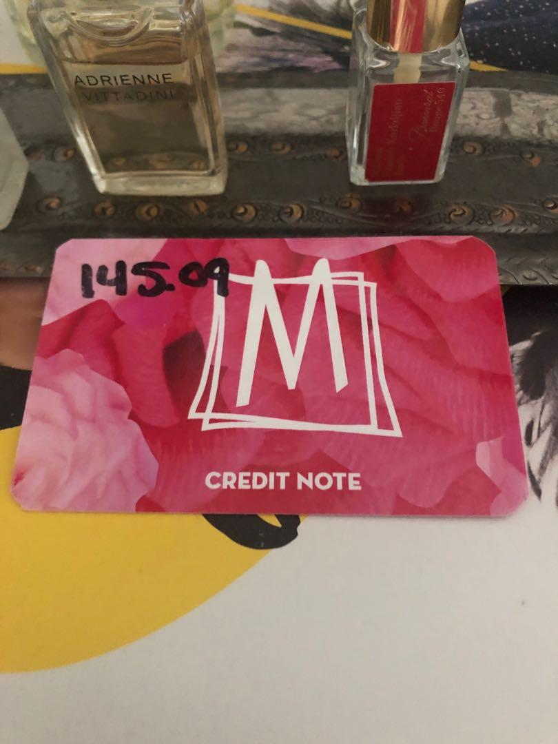 Mendocino store credit valued at $145