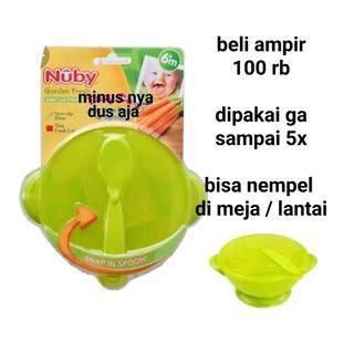 Nuby mangkok bayi alat mpasi bayi suction bowl piring suction piring silicone mangkok silikon bayi #kidsitem