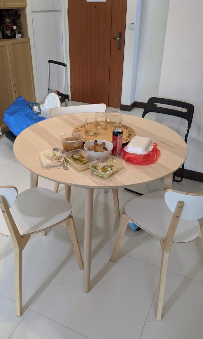 Round Dining Table Ikea Lisabo, Ikea Round Table