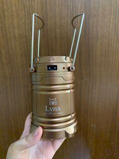[萊兒SHOP]Lynx 太陽能LED露營燈(附充電線)