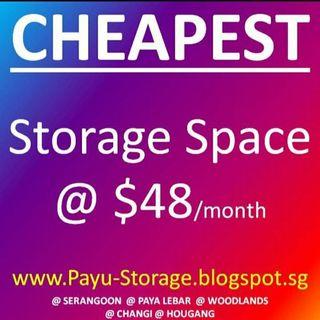 Storage space for rent and warehouse rental
