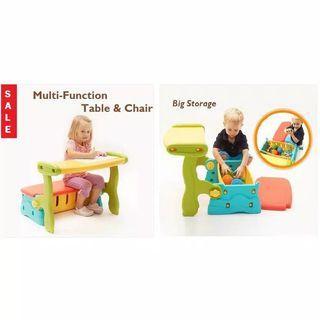 TERMURAH !! Meja Kursi Anak Bench 3in1 Multifungsi Toy Storage PASO