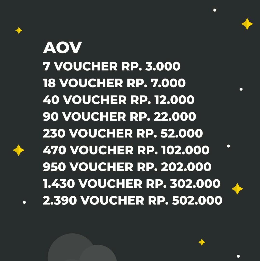#BisnisBaru Top Up Voucher AOV