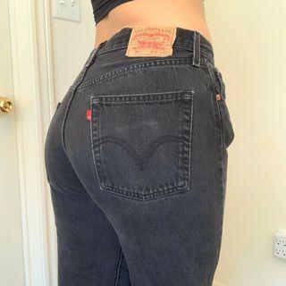Vintage Levi High Waisted Jeans Black