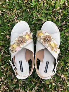 Bembiibloopshoes Emma Flat Ivory Size 36
