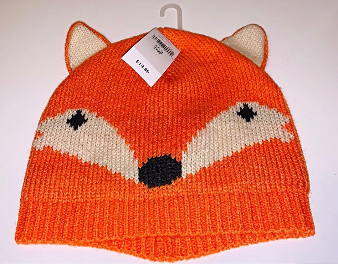 Brand new baby GAP fox winter hat sz xs/sm