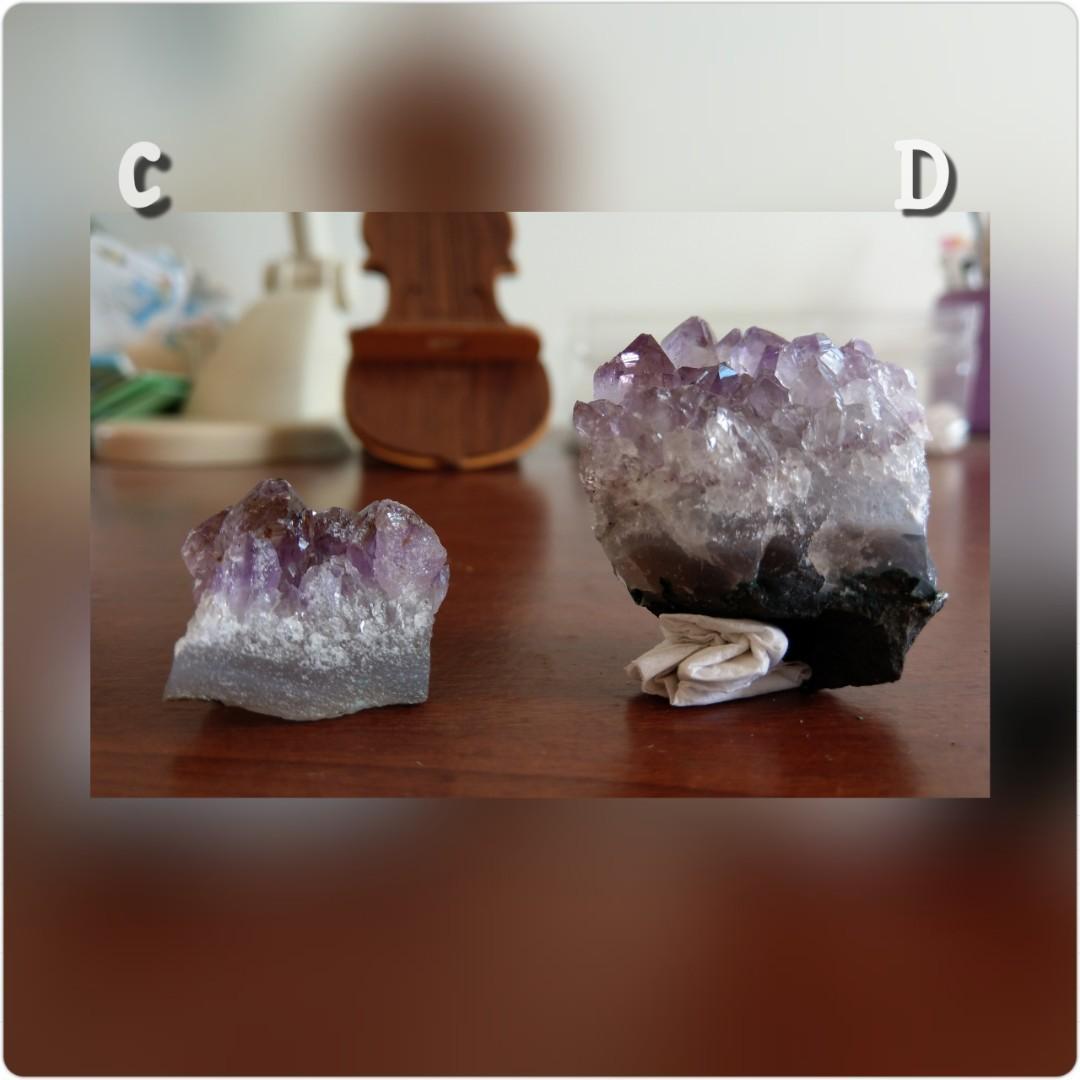 紫鈦水晶晶簇-C款