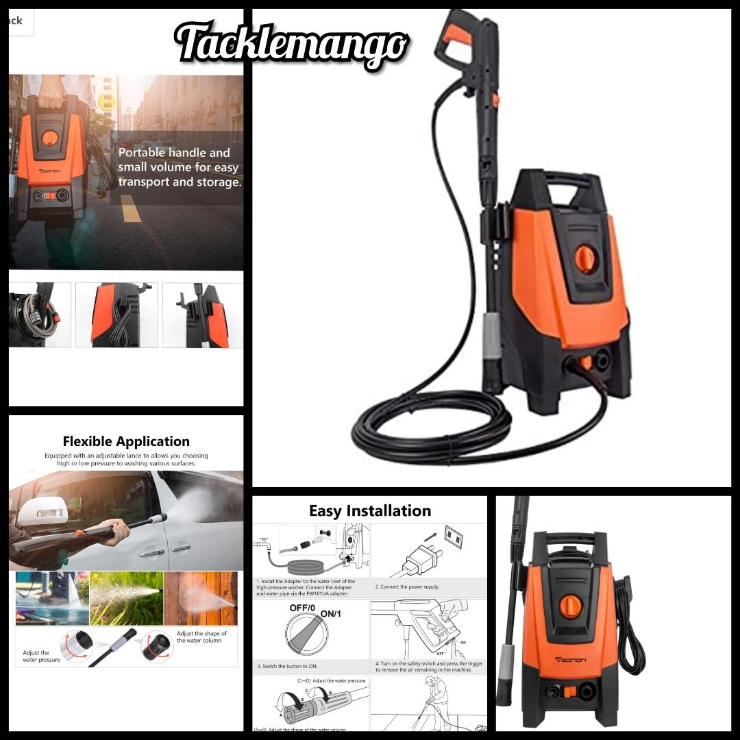 Eonon Electric Pressure Washer 2030 Psi 1 85 Gpm High Pressure Washer 16 4 Amp Professional Washer Cleaner Machine With Spray Gun Adjustable Nozzle Power Wash Machine Car Washer Pw181u Electronics Others On Carousell
