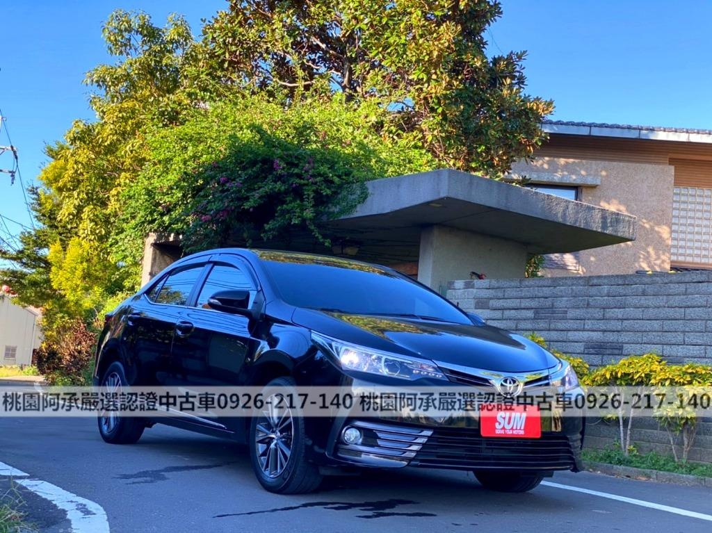 【FB搜尋桃園阿承】福特 超人氣ALTIS跑8萬 2017年 1.8CC 黑色 二手車 中古車