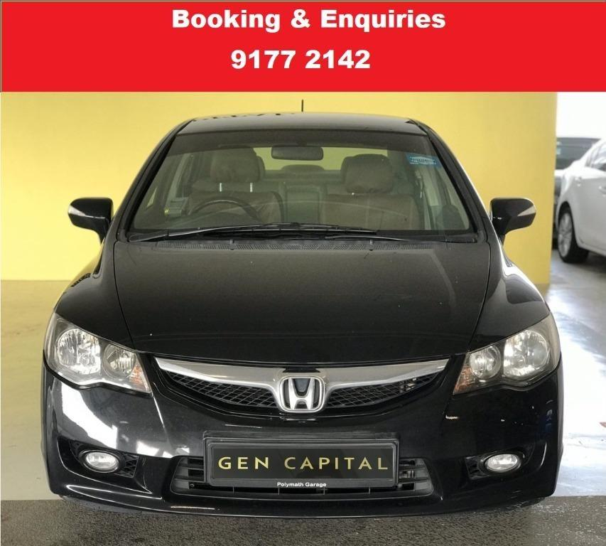 Honda Civic. Pre-booking. Cheap | Budget | Car Rental .  2 weeks promotion rate. $500 deposit only. Whatsapp 9177 2142 to reserve now.