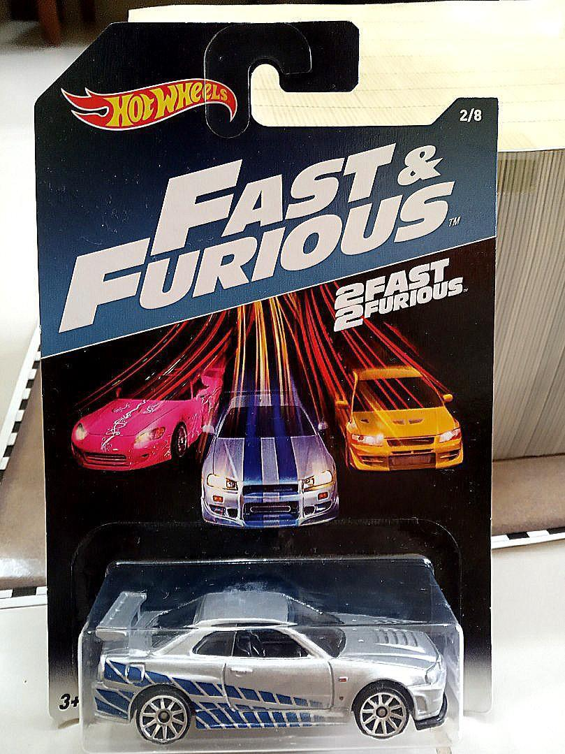 Hot Wheels 2017 Fast Furious 2 8 Nissan Skyline Gt R R34 Silver Toys Games Diecast Toy Vehicles On Carousell