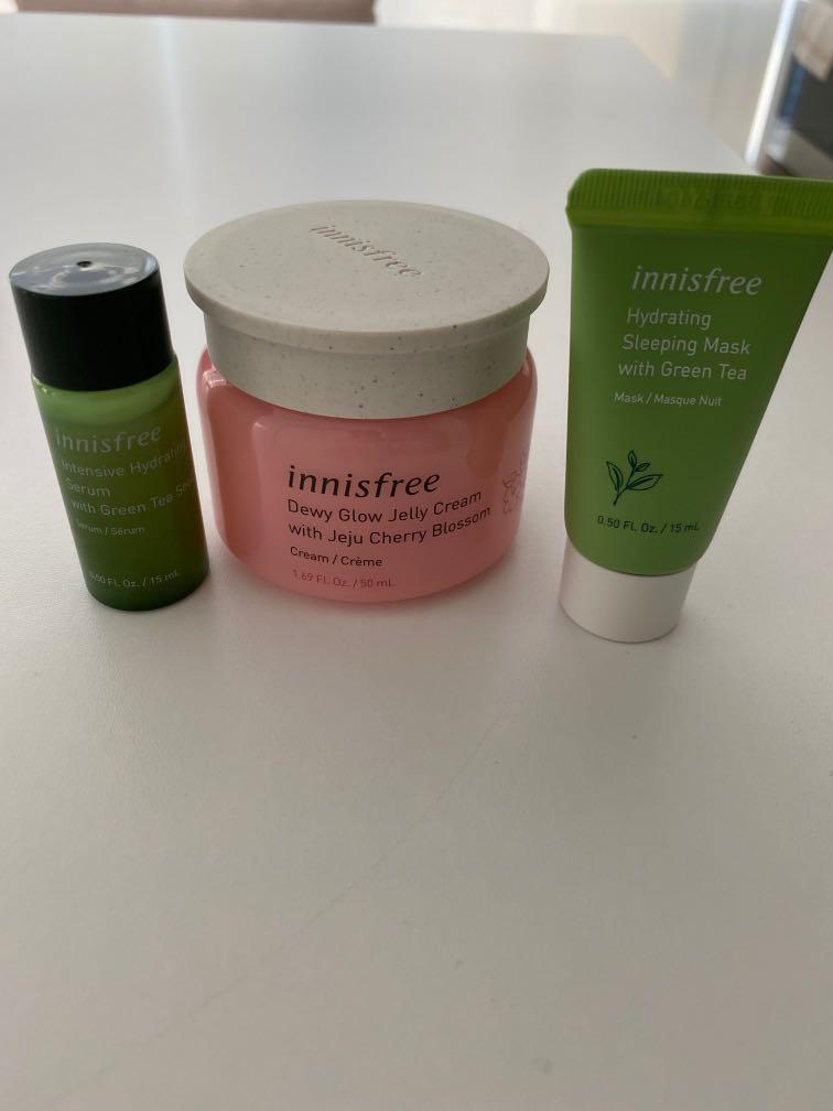 Innisfree Cream with Mask and Serum Samples
