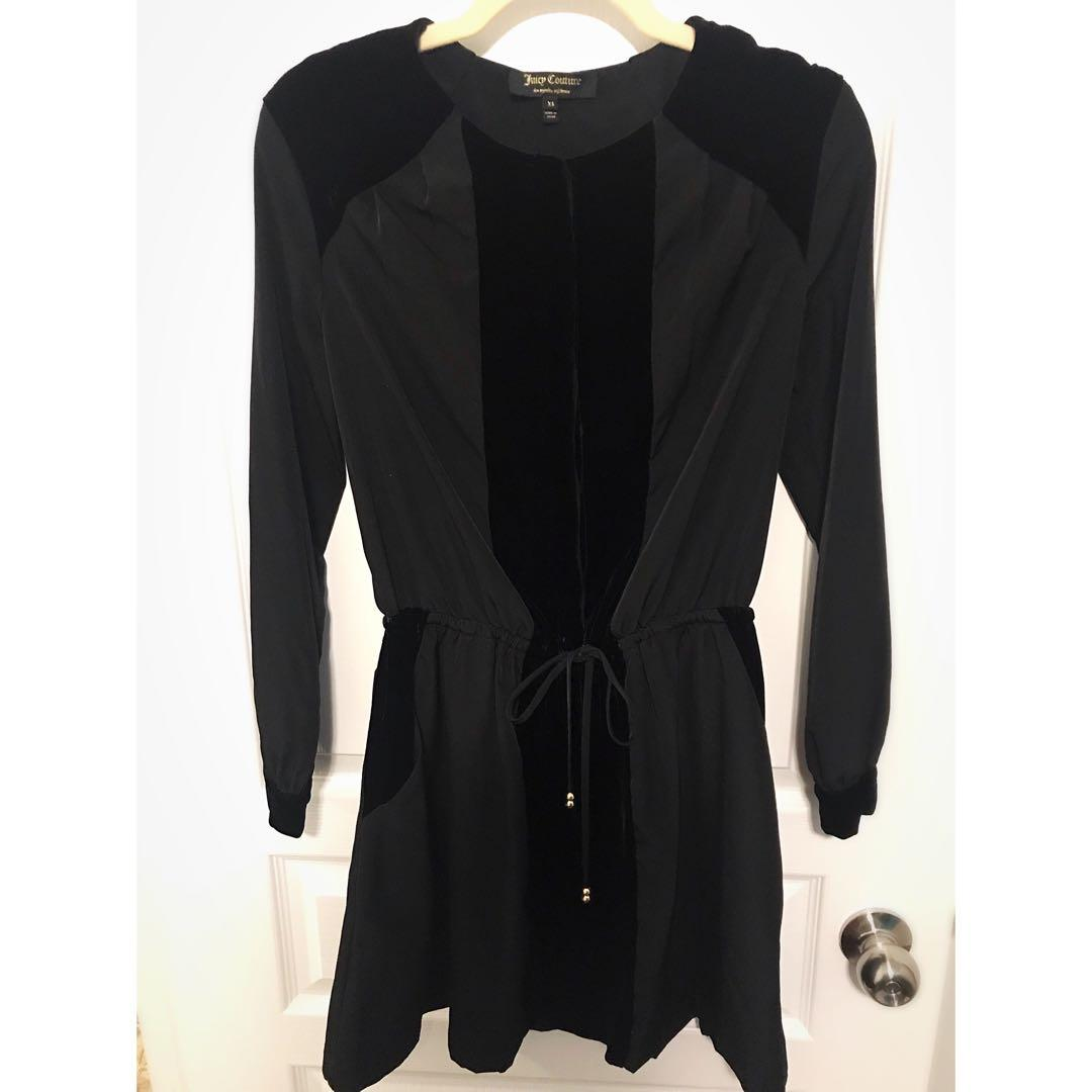 JUICY COUTURE: Black Dress (with black velvet)