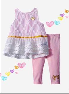 Juicy Couture Girls 2 pieces Tunic Set
