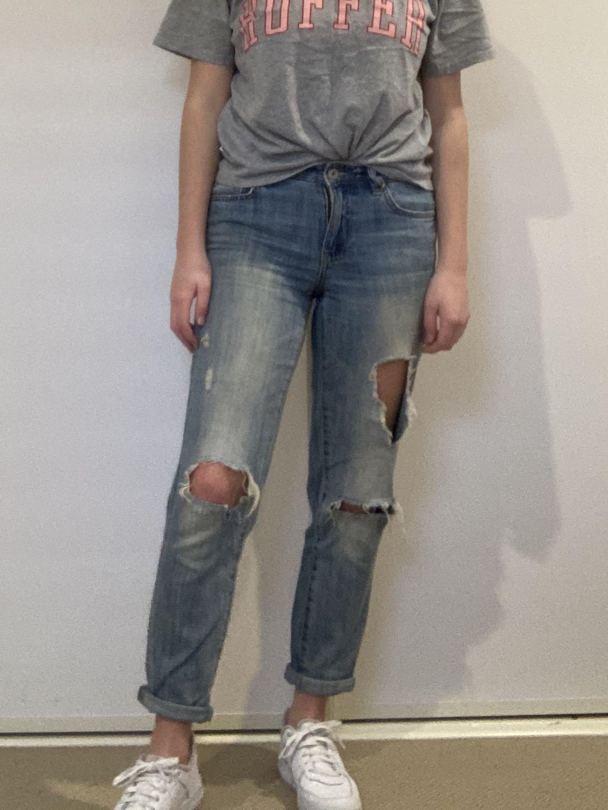 Just jeans ripped boyfriend jeans