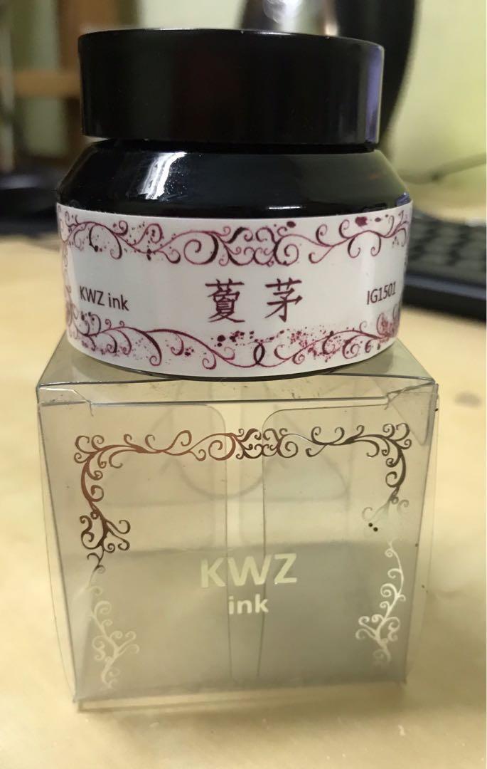KWZ 鋼筆鐵膽墨水 30ml-藑茅 防水墨水