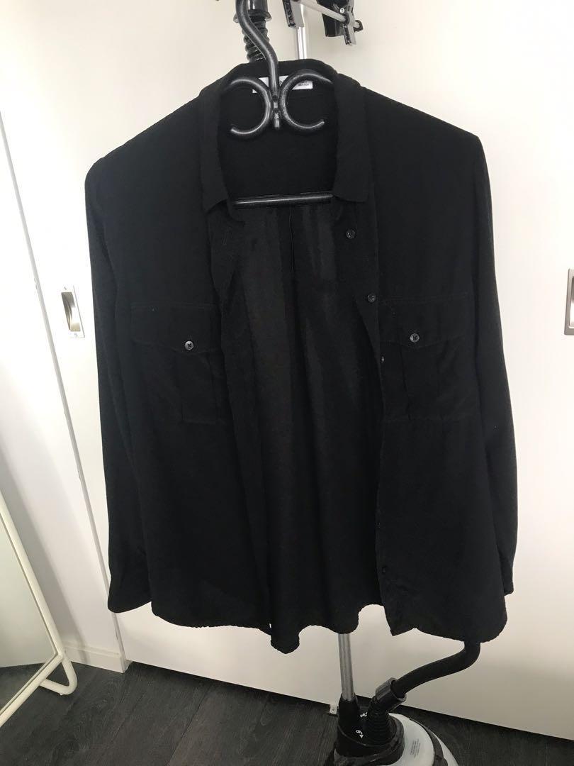 Mango Black Shirt