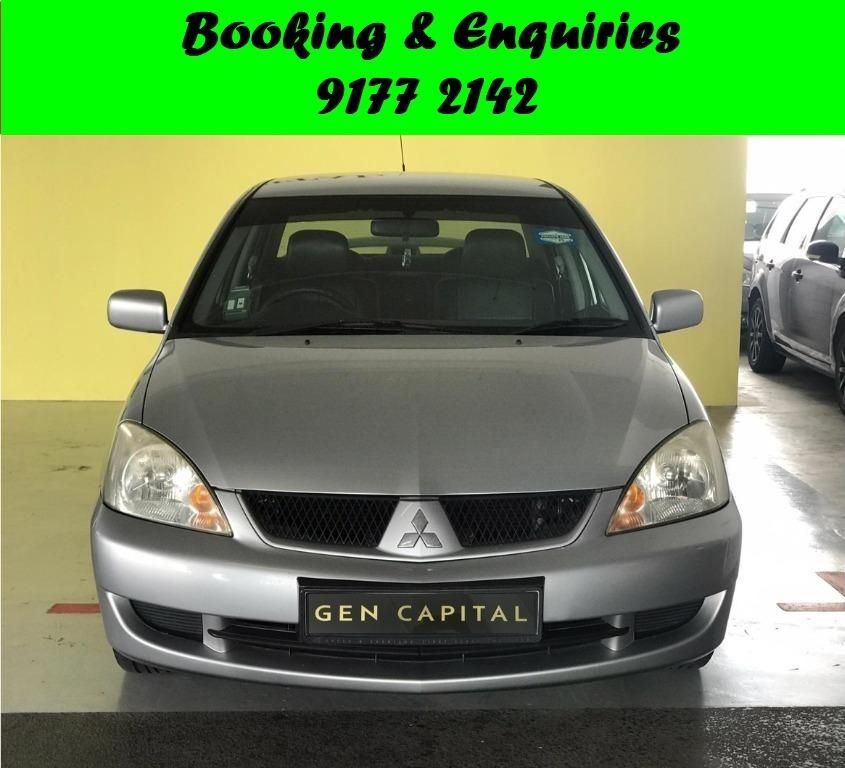 Mitsubishi Lancer. Cheap/ Budget/ Car Rental .2weeks promo rate.$500 deposit only. Whatsapp 9177 2142 to reserve now.