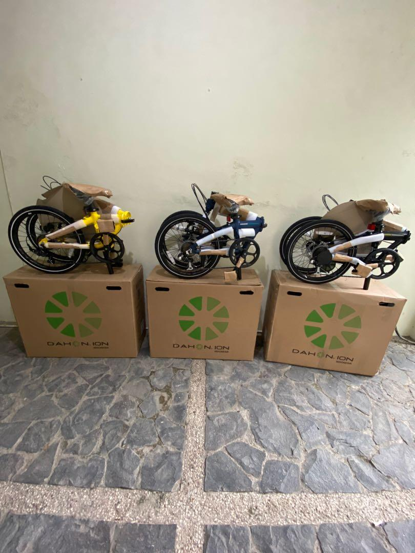 New Sepeda Lipat Dahon Ion Madison 7 Speed Blue Matte ,Yellow & Black 2020 Limited Stock