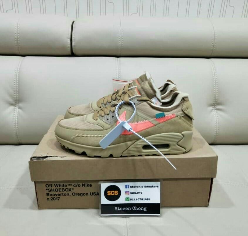 Nike off-white am90 desert Ore uk6, Men