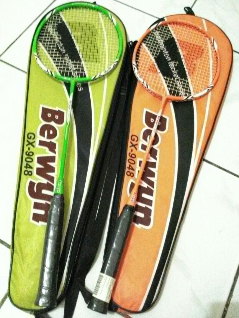Racket green and orange