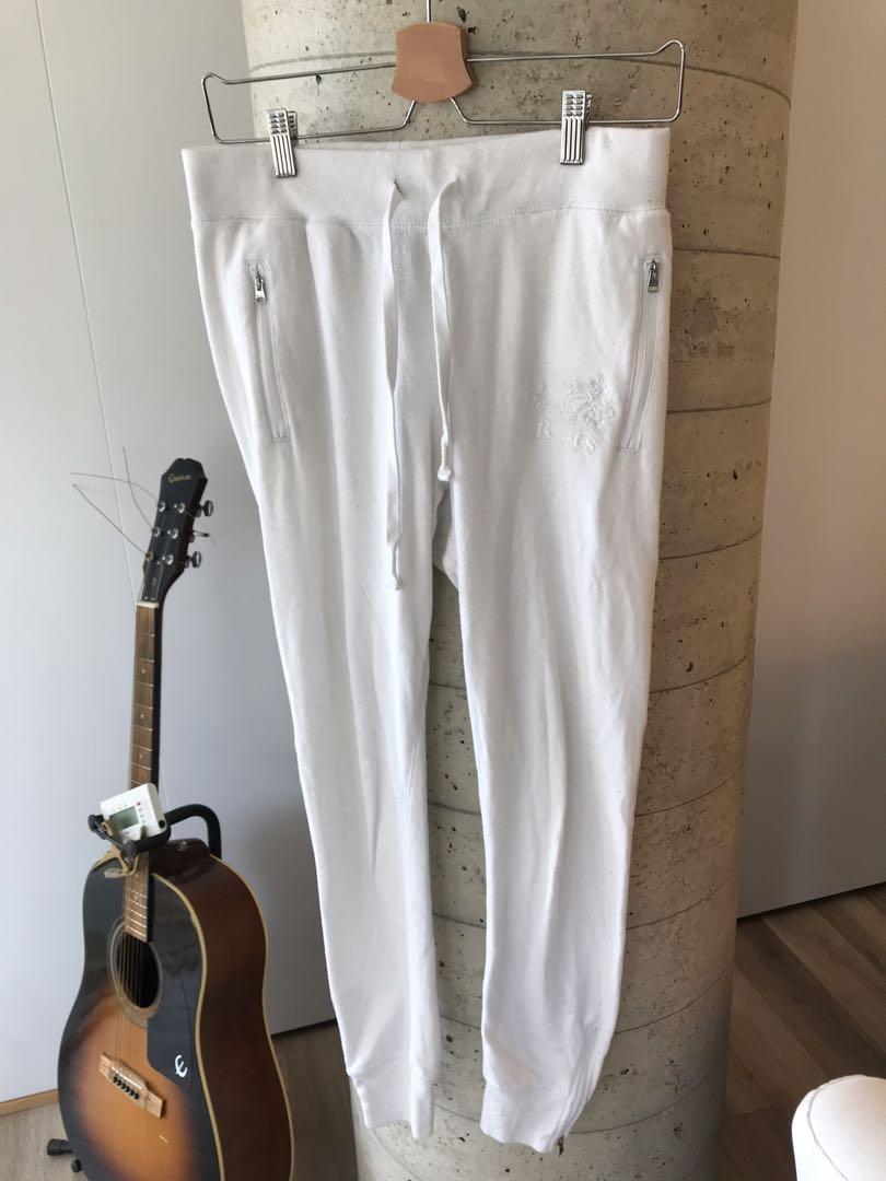Roots Women Sweatpants White Size Small