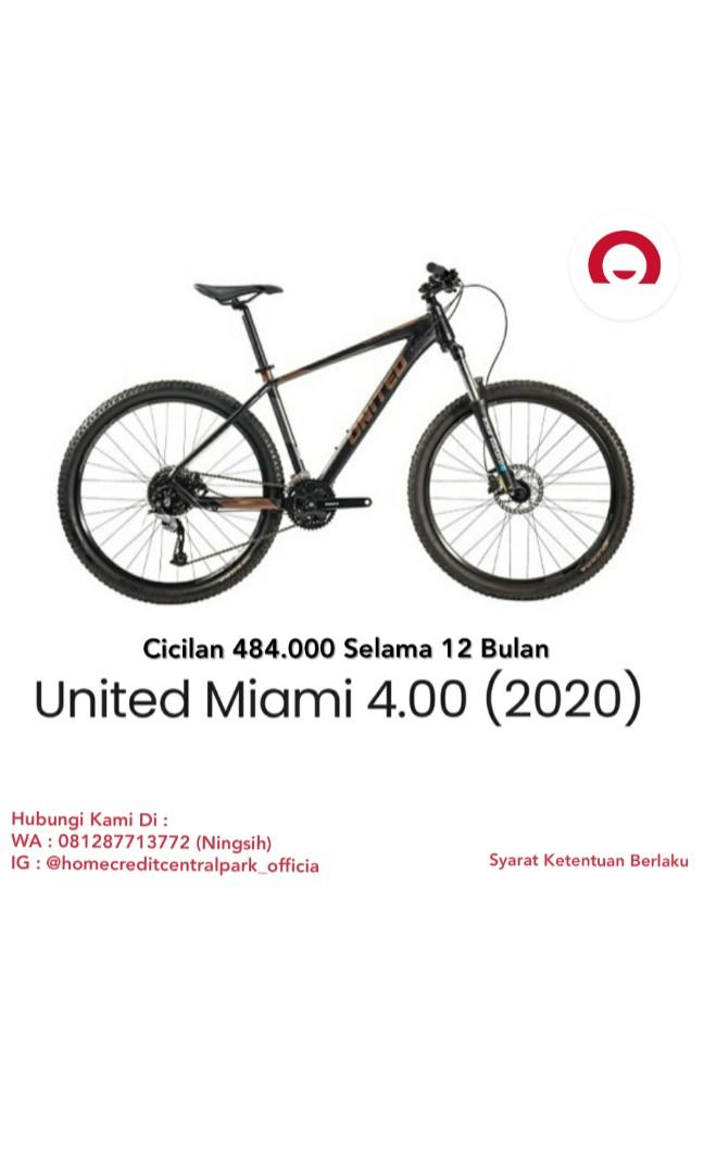 Sepeda united miami 4.00 kredit tanpa kartu kredit proses 10 menit