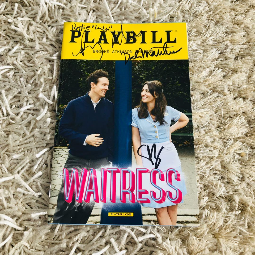 Waitress The Musical Broadway Playbill signed by Sara Bareilles and cast
