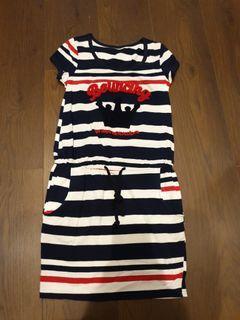 紅藍白橫條連身裙【百元衣物買四送一】