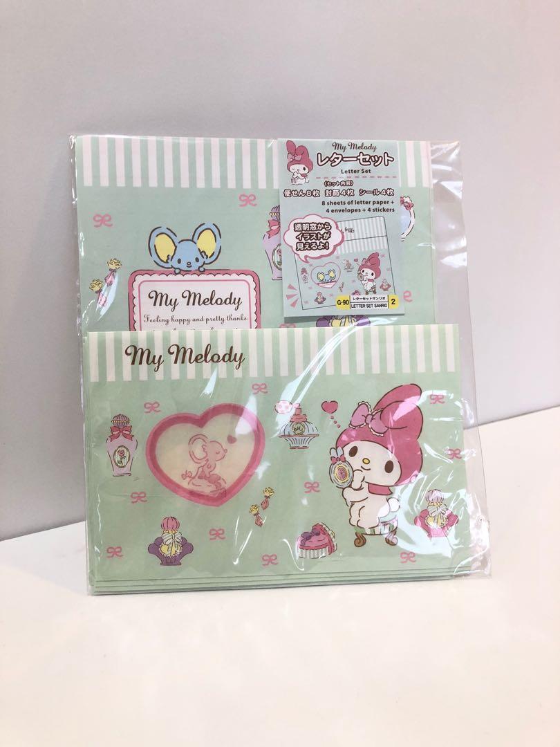 正品 三麗鷗 日本限定 經典卡通美樂蒂 造型 信封信紙包
