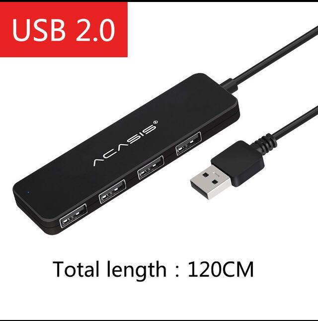 Cable Length: 1.2m Cables Small Plug Hub 2.0usb Hub 3 Port Hub One for Three USB Splitter USB Extension Cable