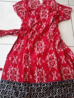 baju batik merah
